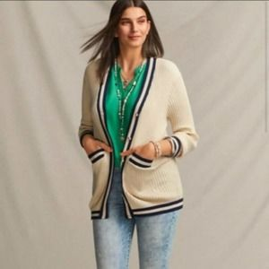 Cabi Radcliffe Long Ribbed Button Up Cardigan